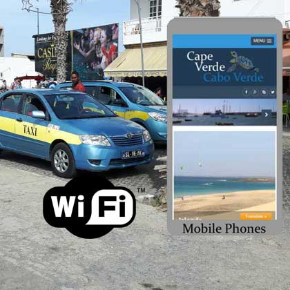 Information about phones and taxies in Cabo Verde or Cape Verde